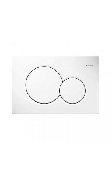 Placca di comando colore bianco a due pulsanti Sigma 01 Geberit 115.770.11.5