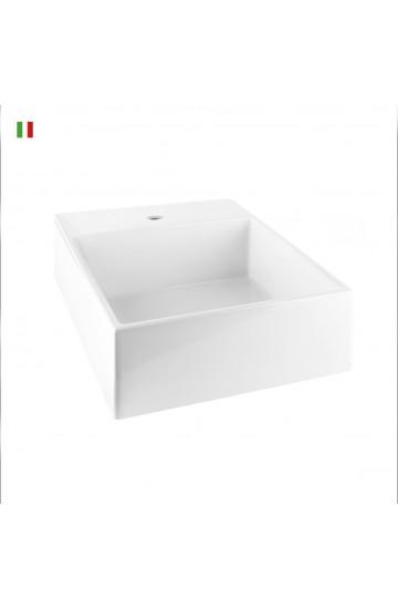 Lavabo d'appoggio o a muro GESSI RETTANGOLO 40x50,5x18