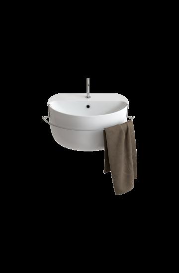 Gran Mascalzone Lavabo Sospeso o ad Appoggio in ceramica bianco  60x40x33.5 cm -  Domus Falerii