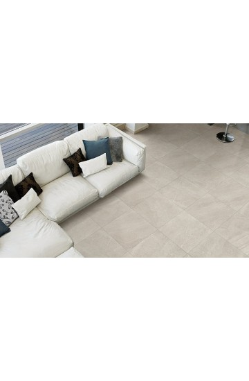 Pavimento in Gres Porcellanato Tortora effetto Cemento 81x81 da interno - Cotto Petrus Emotion Taupe
