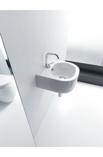 Lavabo Sospeso o Appoggio monoforo 40x37 bianco - Kerasan Flo