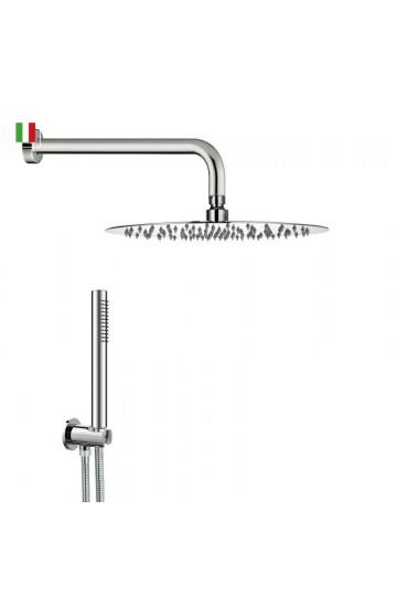 STEEL TONDO kit doccia con soffione in acciaio inox cromato