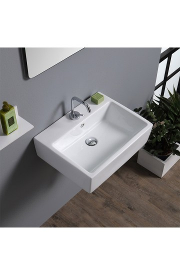 Lavabo da appoggio dal design moderno Nero+- LA 14