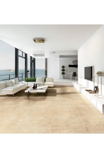 Pavimento per interni effetto pietra in gres porcellanato Beige 61.5x61.5 - La Fenice Murge