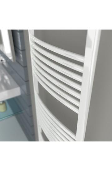 Radiatore Scaldasalviette 600x1385mm - Cordivari LISA 22 Curvo Verniciato Bianco