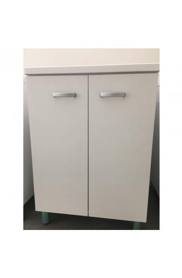 Mobile lavanderia Sfera con resistente pilozza lavapanni 60x60 colore BIANCO - MOBIL10
