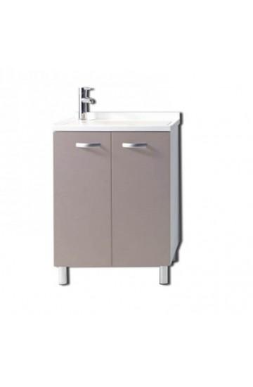 Mobile lavanderia Sfera  con resistente pilozza lavapanni 60x60 colore VISONE - MOBIL10
