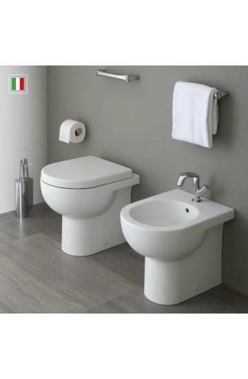Sanitari filo muro FLAMINIA QUICK: wc + bidet con sedile avvolgente