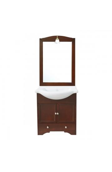 Mobile bagno classico con lavabo e specchio illuminato - Monique 75cm