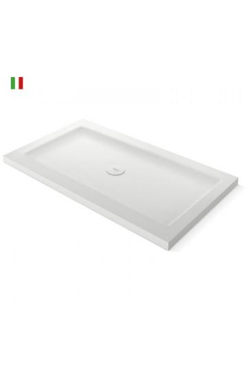 TEUCO PAPER piatto doccia in duralight 120X80 bianco inclusa piletta e copripiletta in duralight