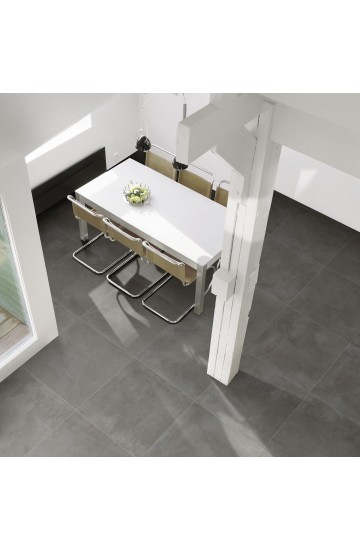 Pavimento in Gres Porcellanato Antracite effetto Cemento 60x60 - Cotto Petrus Prestige Anthracite