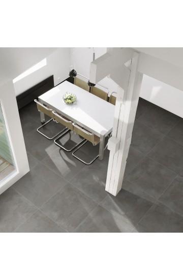 Pavimento in Gres Porcellanato Antracite effetto Cemento 81x81 - Cotto Petrus Prestige Anthracite