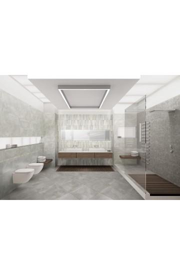 Pavimento in Gres Porcellanato Grigio effetto Cemento 81x81 - Cotto Petrus Prestige Gris