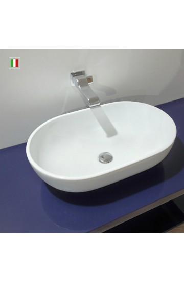 Flaminia Pass 62x40 h.16 lavabo ovale da appoggio