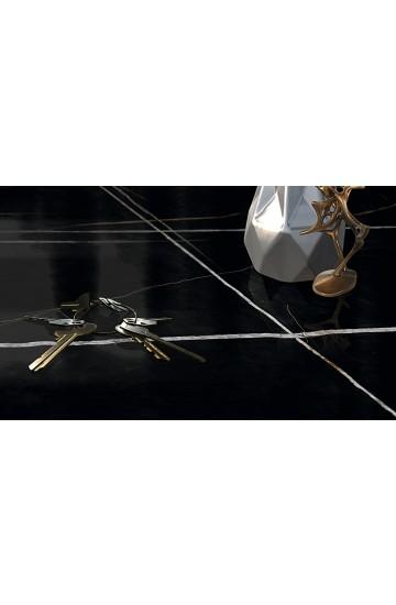 Pavimento e Rivestimento effetto Marmo in Gres Porcellanato Nero 80x180 - EnergieKer Sahara Noir Black