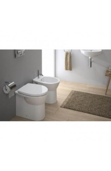 Sanitari Filo muro Sanindusa Easy compact wc vaso + bidet ceramica bianco - sedile standard incluso