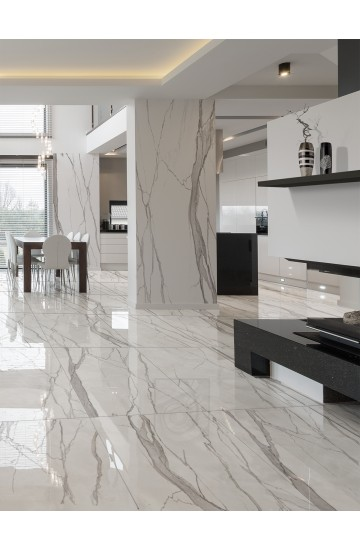 Pavimento e Rivestimento effetto Marmo in Gres Porcellanato 60x120 - EnergieKer Statuario Imperiale