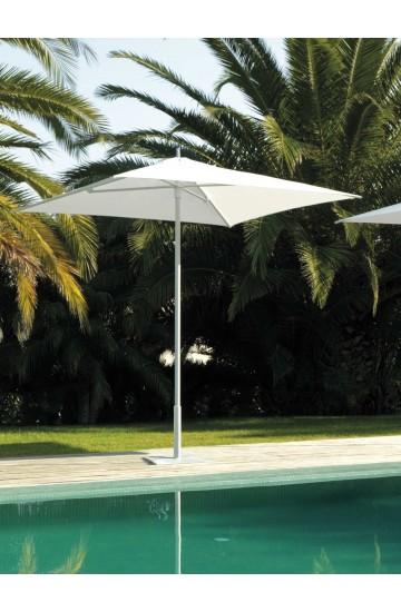 Ombrellone da Giardino in Tessuto  White/Graphite 2x2  linea Parasol Collection - Talenti  Apollo
