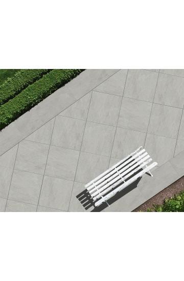 Pavimento per esterno spesso effetto Basaltina in Gres Porcellanato 90x90 - EnergieKer TH2.0 Basaltina Grey