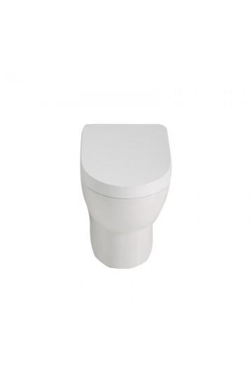 Vaso filomuro in ceramica bianco con copriwc soft close Foglia Small Domus Falerii