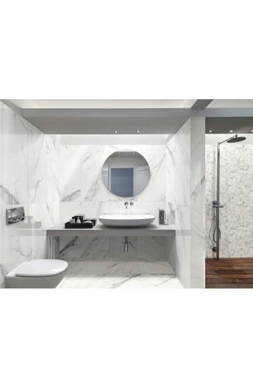 Pavimento/Rivestimento effetto Marmo in Gres Porcellanato colore Calacatta Grey 59x59 - Cotto Petrus Vision