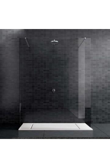 Box Doccia Walk-In centro parete cristallo temperato 8 mm da 150 cm